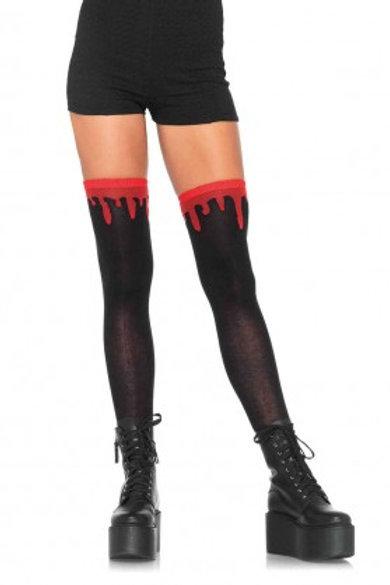 Dripping Blood Knee Socks