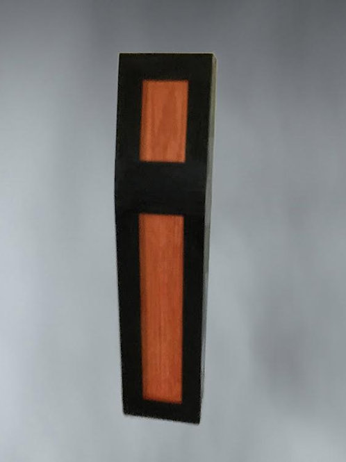 "15"" Orange and Black Coffin"