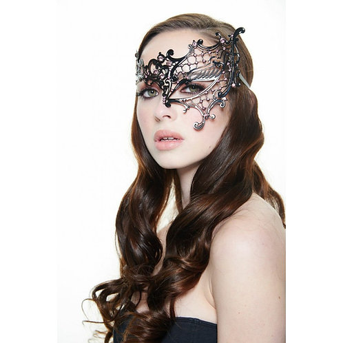 Black Laser Cut Metal Mask