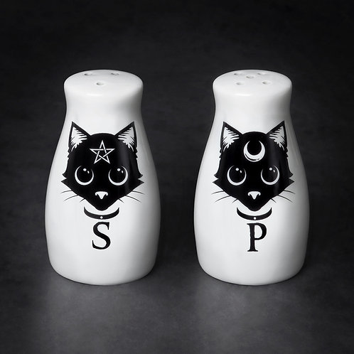 Black Cats Salt and Pepper Shakers