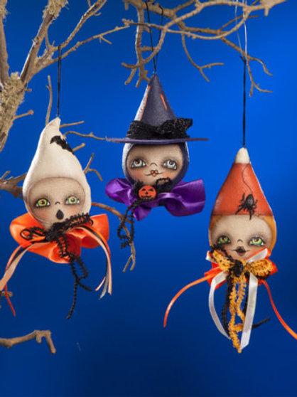 Ghoulish Halloween Mini Ornaments