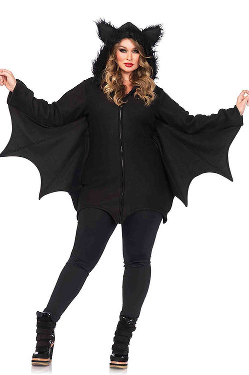 Cozy Bat Fleece Dress