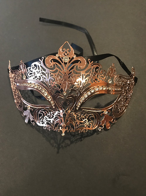 Rose Gold Laser Cut Mask