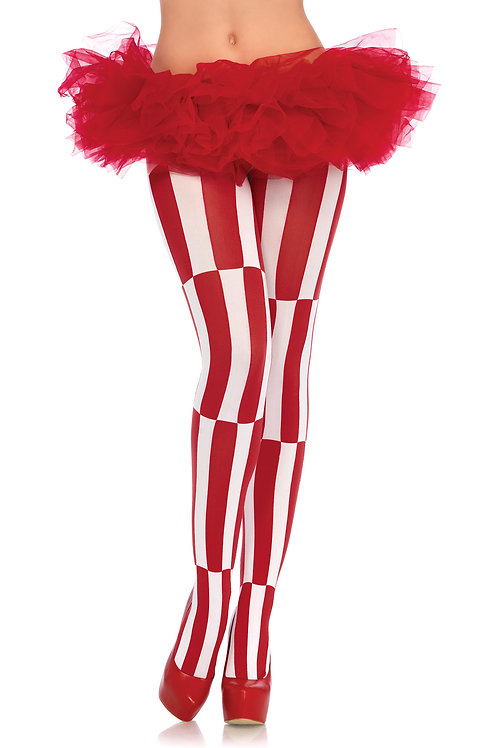 Woven Opaque Striped Tights