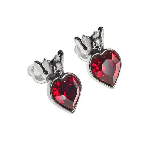 Claddagh Heart Earrings Studs
