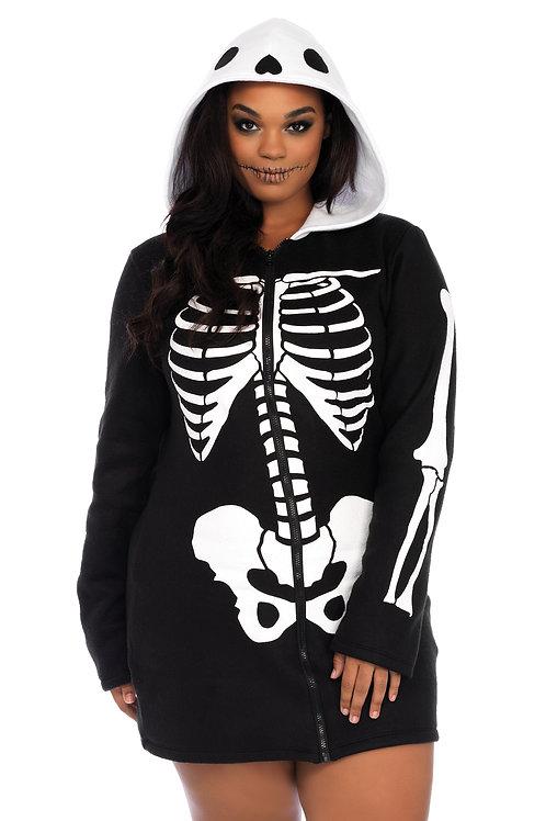 Cozy Skeleton Hoodie Dress