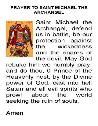 Prayer to St. Michael Archangel