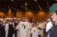 Altar Servers and Cross