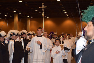 Altar Servers and Cross
