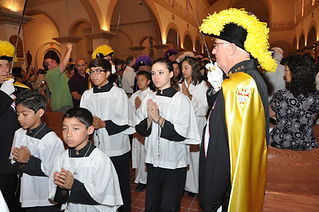 Altar Servers and Sir Knights