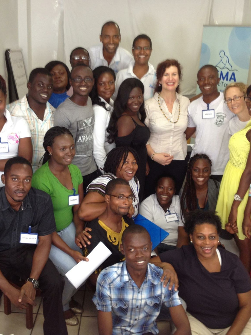 Teaching the first ever Anatomy Trains Workshop in Ghana, Africa