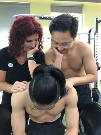 Teaching benchwork in Bejing