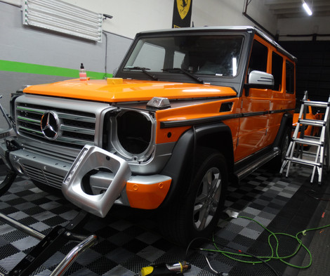 Mercedes benz g class wrapped by first class autosports for Mercedes benz body shop miami