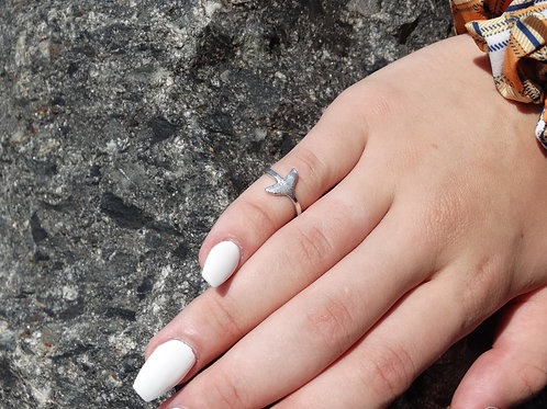 Small Whale Tail Ring