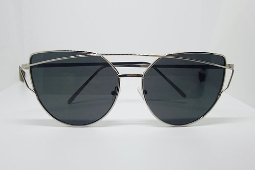 Black Vintage Large Cat Eye Sunglasses