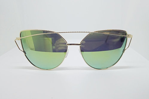 Blue Large Vintage Cat Eye Sunglasses