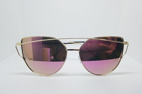 Pink Vintage Large Cat Eye Sunglasses