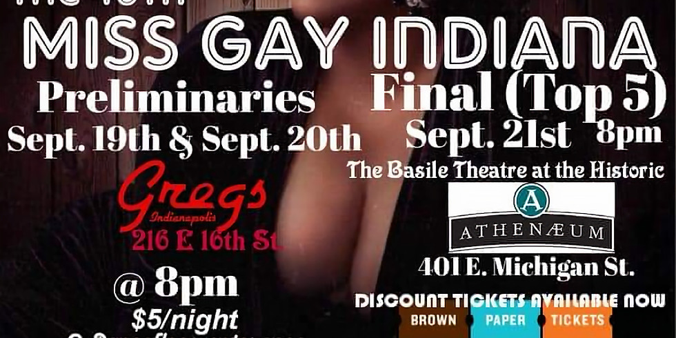 Miss Gay Indiana: 40th Anniversary Preliminary Competition!