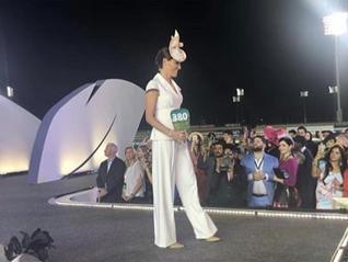 Host of CNN Winning Post & CNN EQ Aly Vance wears Laylaleigh at The Dubai World Cup...