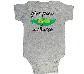 Give Peas a Chance baby romper suit
