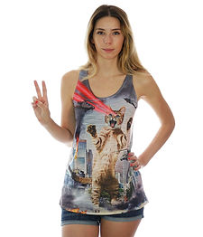 Laser Cat Attacks tank top