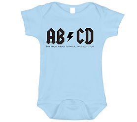 ABCD baby romper suit