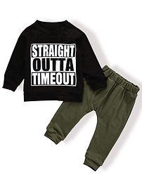 Straight Outta Timeout sweatshirt and leggings set