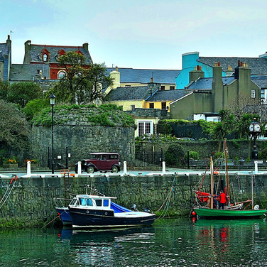 Castletown harbour area, on the isle of man