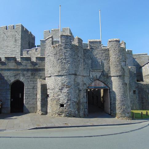 Castlerushen entrance in Castletown, on the Isle of Man