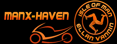 Manx-Havens motorcycle and triskelion banner for the website