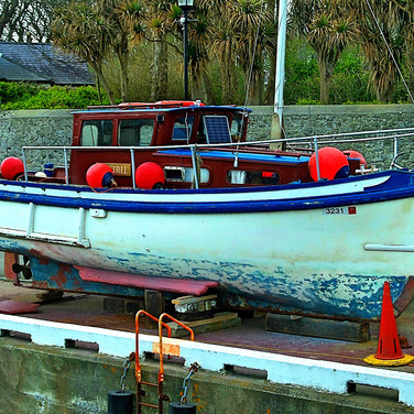 Castletown harbour area,   and a fishing boat. On the isle of man