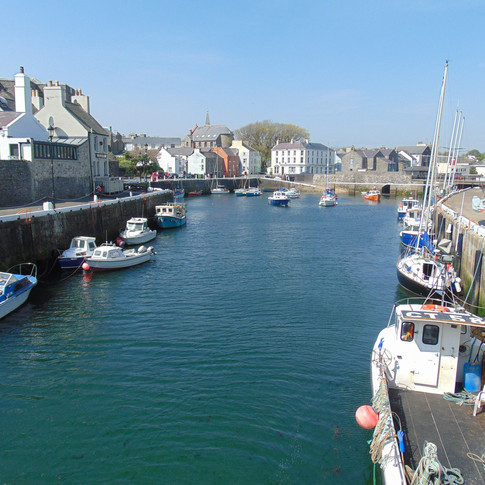 Castletown Harbour Area, on the Isle of Man.