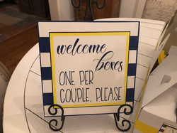 Welcome Dinner Sign