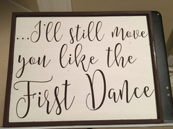 Lyrics from your first dance