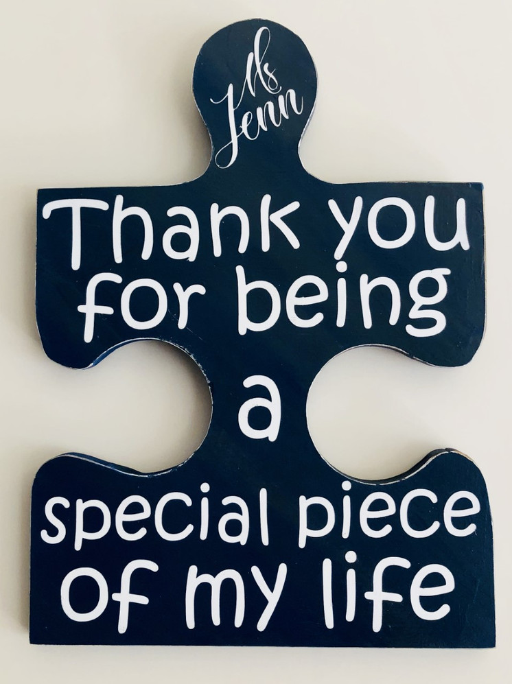 Don't forget classroom or teacher assistants.  This is the perfect wooden sign to remind them of their importance.  $20