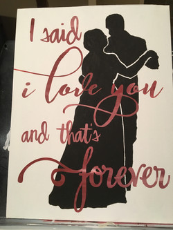 First dance silhouette with lyrics