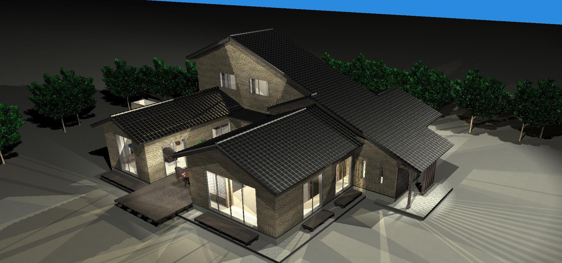 3Dパース   Tu house003