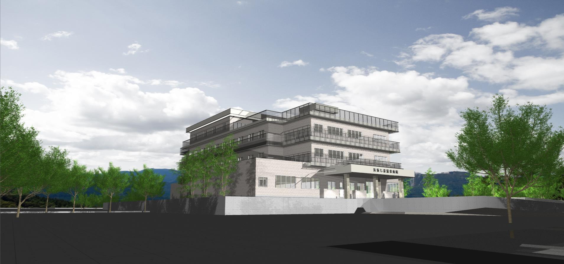 3Dパース | 病院 | 浜坂七釜温泉病院002