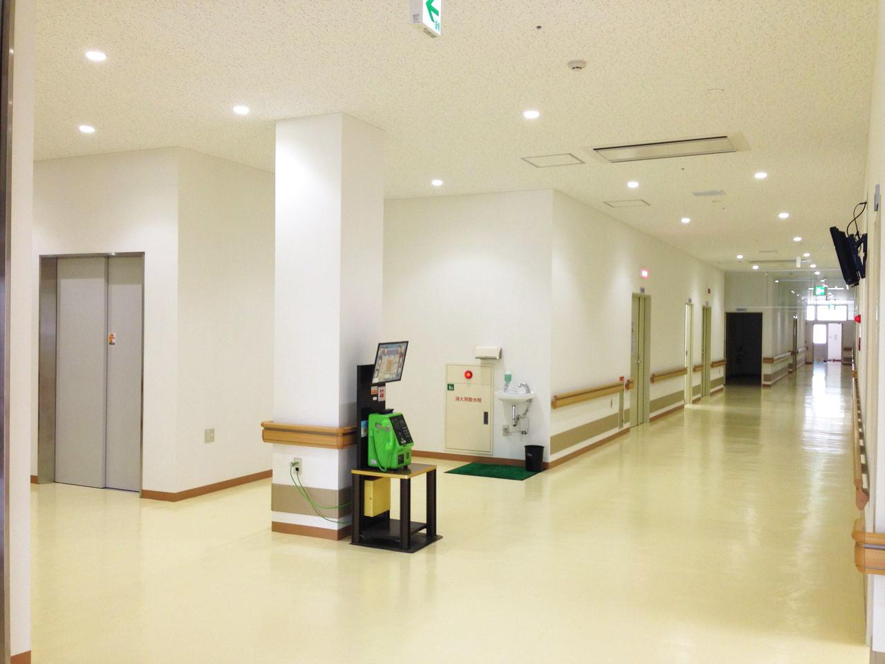 浜坂七釜温泉病院のエントランスです