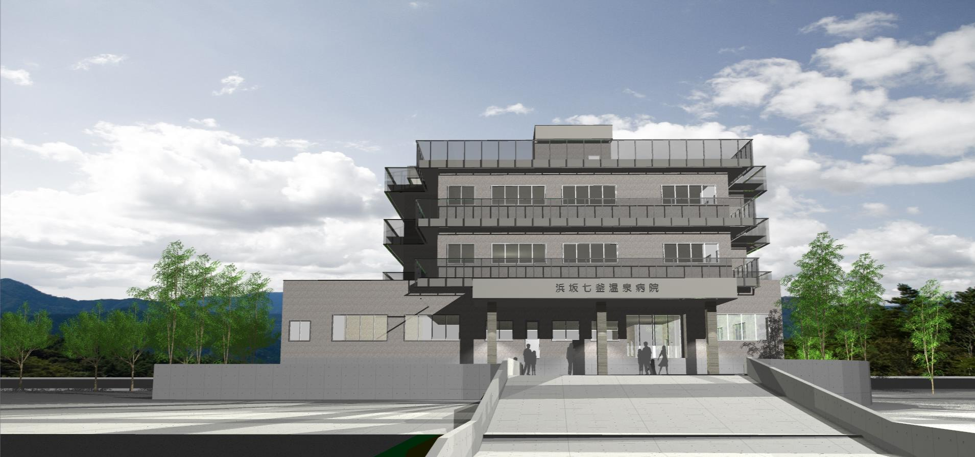 3Dパース | 病院 | 浜坂七釜温泉病院003