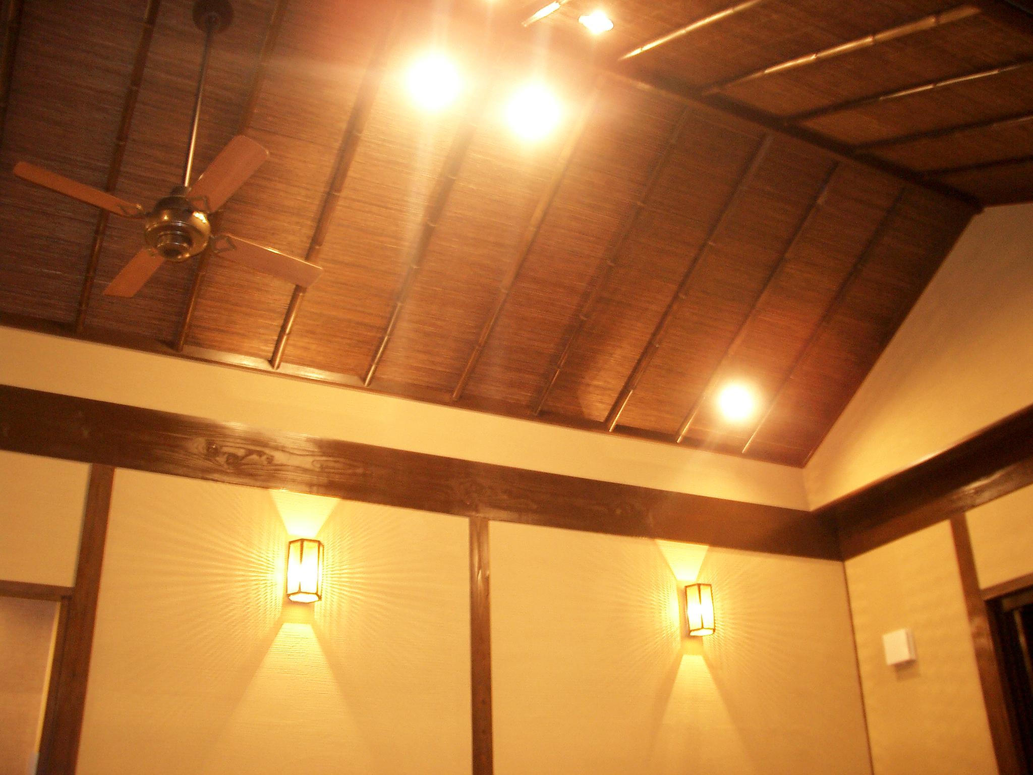 バリスタイルの家でのリビング天井の様子です