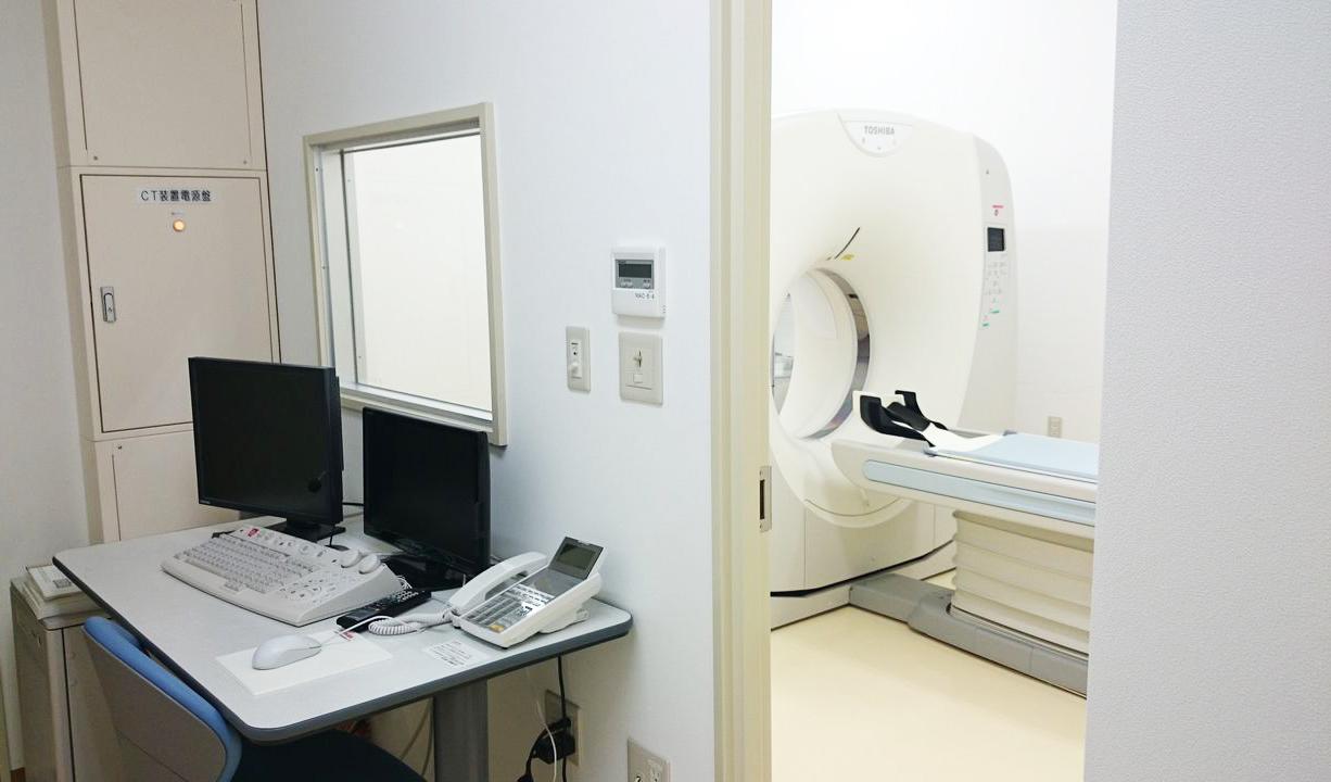 浜坂七釜温泉病院のCT検査室の様子です