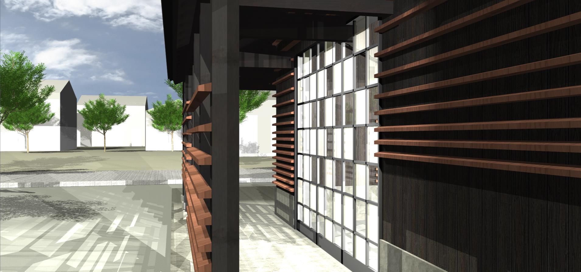 3Dパース | 玉造温泉観光案内所006