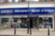 Broadway Music and Vision,broadway music and vision,woodford,shop,front,display,woodford applainces