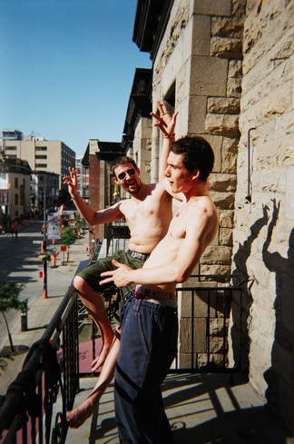 Two Young Men Celebrating Summer
