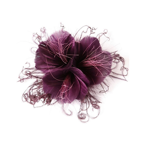 Plum Feather Flower