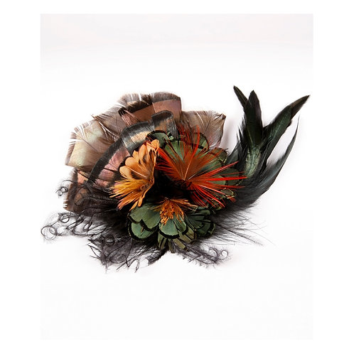 All Natural Feather Flower Clip
