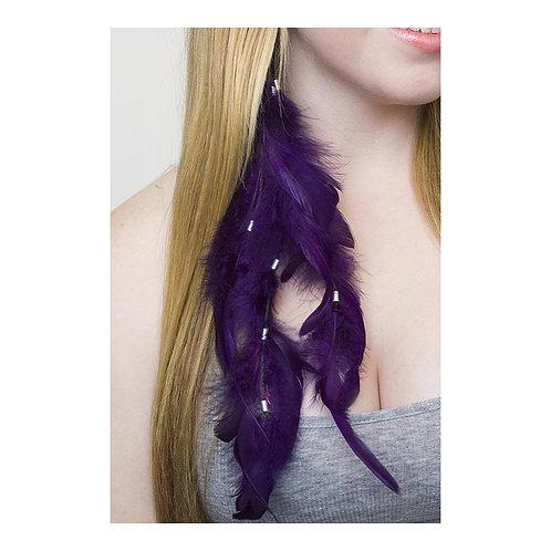 Rooster Schlappen Purple Earring