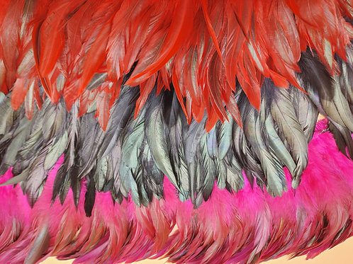 """ROOSTER SCHLAPPEN 6"""" TO 8"""" OVERDYED"""