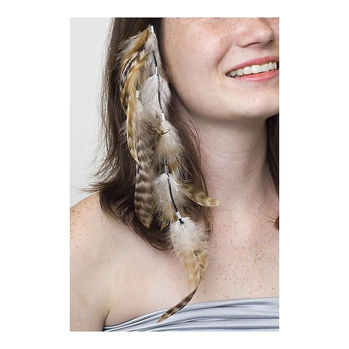 Rooster Schlappen Chinchilla Corded Multi Tassel Hair Clip